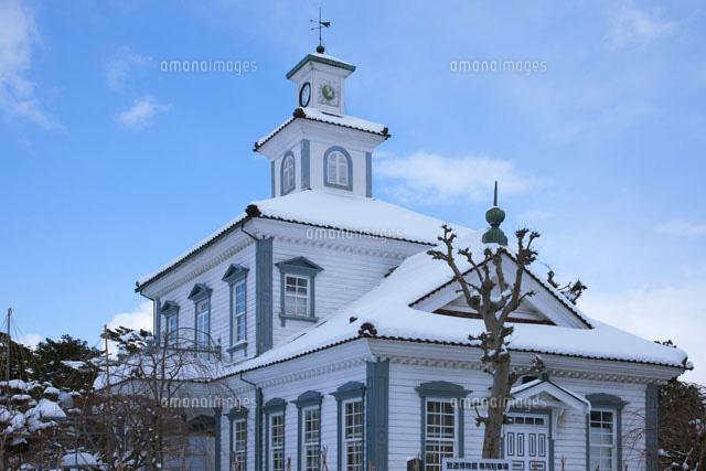 雪の致道博物館 旧西田川郡役所[...
