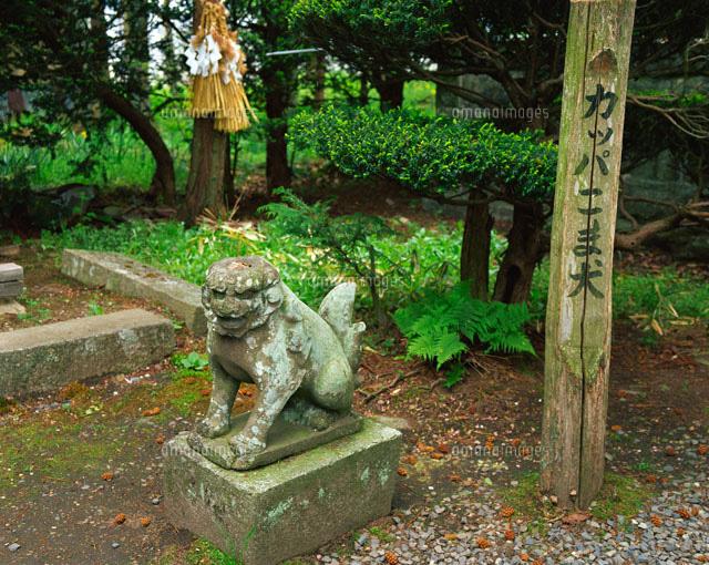 かっぱの狛犬
