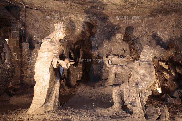岩塩採掘鉱 岩塩製の像[25739015...