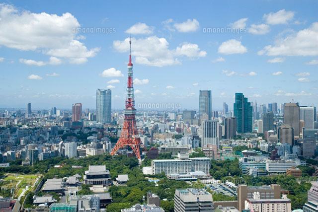 東京タワー周辺の眺望[25806011995]| 写真素材・ストックフォト ...