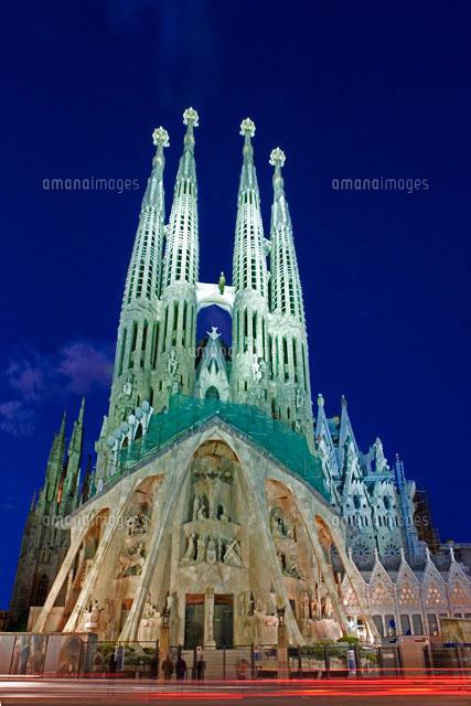 サグラダファミリア夜景25826025412の写真素材イラスト素材