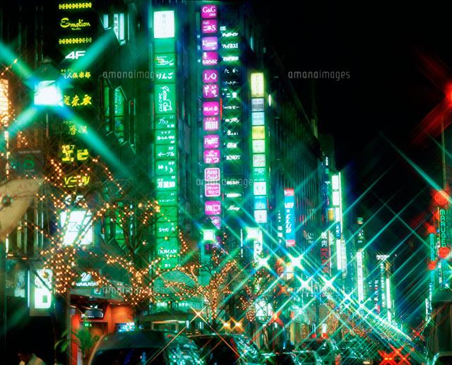 銀座界隈のネオン街25867017161の写真素材イラスト素材アマナ