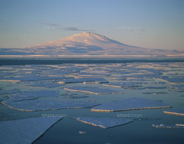 流氷とメルボルン山白夜 ロス海[...