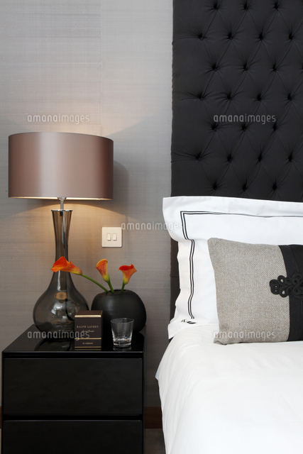 Detail of bedside table with lamp in uk home25937007661 detail of bedside table with lamp in uk home cjames balston mozeypictures Image collections