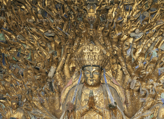 大足宝頂山石刻の千手観音25971001045の写真素材イラスト素材