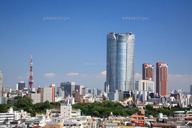 東京タワーと六本木ヒルズ25977003060の写真素材イラスト素材
