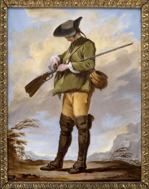 銃に玉をこめる狩人[26004018157...