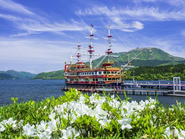 春の箱根 芦ノ湖26033005636の写真素材イラスト素材アマナイメージズ