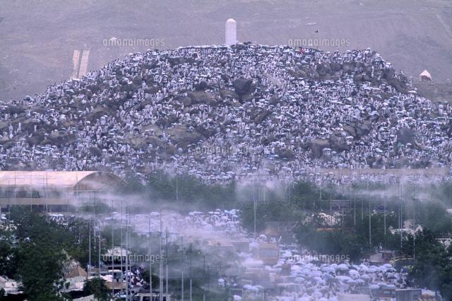 アラファトのラフマ山に群がる巡礼