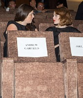 ANDREW GARFIELD SEATING SIGN, EMMA STONEACTORS INSIDE CINEMA99 HOMES. PREMIERE. 71ST VENICE FILM FES