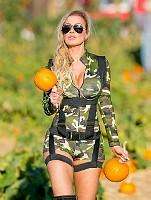 Ana Braga at pumpkin patch