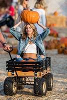 Rachel McCord at the pumpkin patch