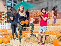 Tess Broussard at at the pumpkin patch