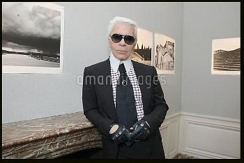 """VERNISSAGE DE L'EXPOSITION DES PHOTOGRAPHIES DE KARL LAGERFELD """""""