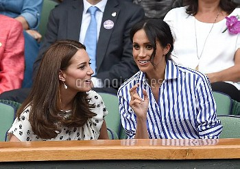 Kate Duchess of Cambridge and Meghan Markle
