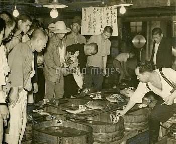 1940年・物価統制 築地魚市場の定価売り【要事前申請】