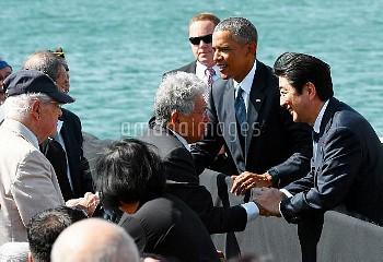 【要事前申請】生きのびた人たちと言葉を交わす安倍首相 真珠湾訪問