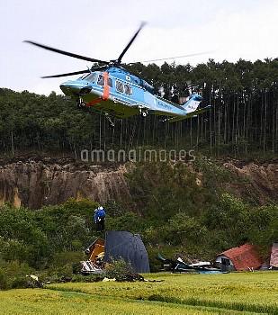 【要事前申請】北海道地震 厚真町 吉野地区 道警ヘリ