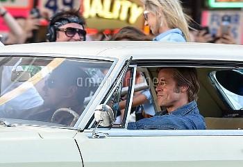Brad Pitt On Movie Set