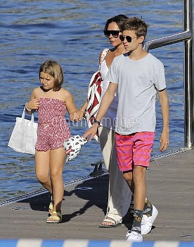 *EXCLUSIVE* The Beckham Family looking happy and relaxed aboard Elton John's lavish yacht!