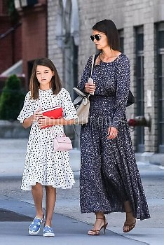 *EXCLUSIVE* Katie Holmes and daughter Suri Cruise match flowing dresses