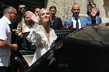 *EXCLUSIVE* Chiara Ferragni and Fedez tie the knot in an over the top wedding surrounded by friends