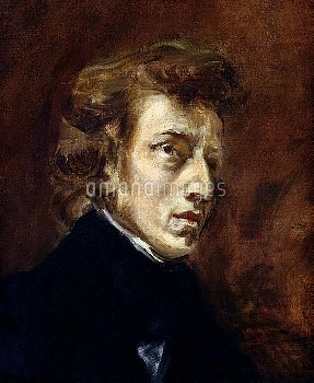 XIR24929 Frederic Chopin (1810-49) 1838 (oil on canvas) by Delacroix, Ferdinand Victor Eugene (1798-