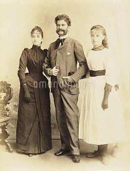 DGA576757 Austria, Vienna, Johann Strauss with wife Adele and daughter Alice; (add.info.: Austria -