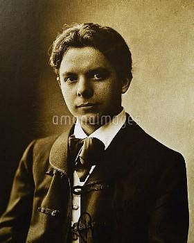 DGA768373 Portrait of young Bela Viktor Janos Bartok (Nagyszentmiklos, 1881-New York, 1945), Hungari