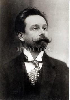 HGM80139 Portrait of Alexander Scriabin (1872-1915) (b/w photo); Haags Gemeentemuseum, The Hague, Ne