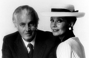 XRD1700478 Hubert de Givenchy with Actress Audrey Hepburn one of the admirers of his fashion, togeth