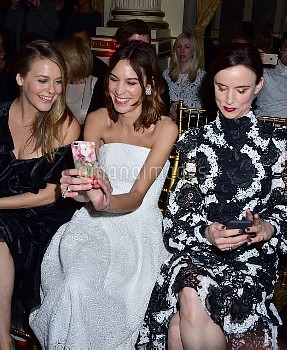 Alicia Silverstone ,Alexa Chung ,  Juliette Lewis at the Christian Siriano Show during NY Fashion W