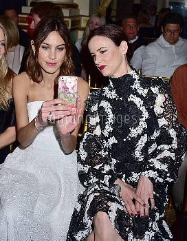 Alexa Chung ,  Juliette Lewis at the Christian Siriano Show during NY Fashion Week