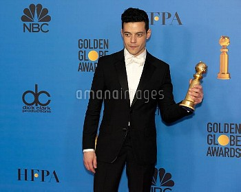 Rami Malek attends The 76th Annual Golden Globe Awards - Press Room in Los Angeles