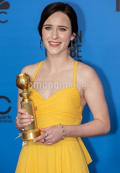 Rachel Brosnahan attends The 76th Annual Golden Globe Awards - Press Room in Los Angeles