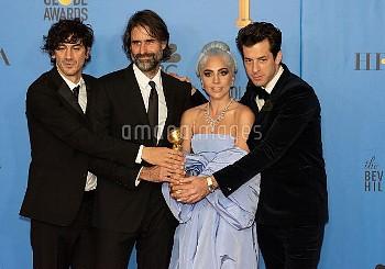 Mark Ronson, Lady Gaga, Andrew Wyatt, Anthony Rossomando  attends The 76th Annual Golden Globe Award