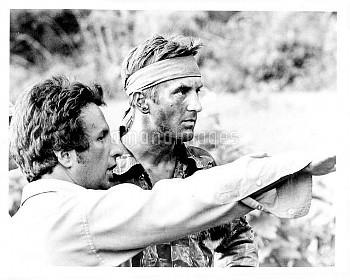 Michael Cimino (Director), Robert De Niro on the set of The Deer Hunter (1978)
