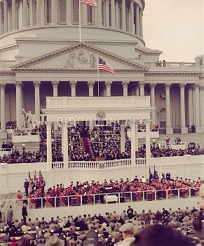 President Dwight Eisenhower delivering his inaugural address at the Capitol, Jan. 21, 1957  (BSLOC_2