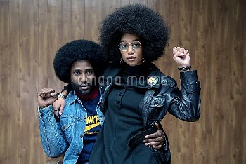 BLACKKKLANSMAN, from left: John David Washington, Laura Harrier, 2018. ph: David Lee /© Focus Featur