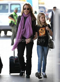 Felicity Huffman Departs LAX with Her Daughter Sophia