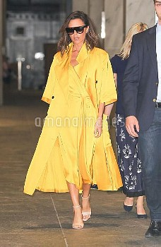 Victoria Beckham Leaving An Office Building In New York
