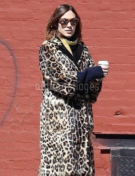 Alexa Chung Stops For Coffee In NYC