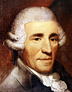 FRANZ JOSEPH HAYDN (1732-1809). Austrian composer. Detail from oil painting, 1791, by Thomas Hardy.
