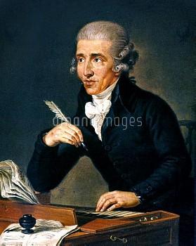 FRANZ JOSEPH HAYDN (1732-1809). Austrian composer. Oil on canvas, c1791, by Ludwig Guttenbrunn.