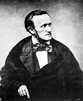 RICHARD WAGNER (1813-1883). German composer. Photographed in Paris, France, 1860.