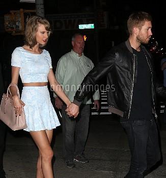 Taylor Swift, Calvin Harris,Taylor Swift & Calvin Harris Walk Hand In Hand