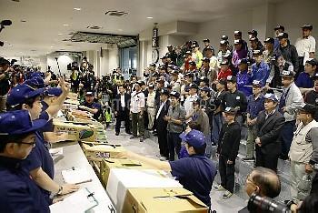 東京・豊洲市場で初競り 豊洲市場の青果の競り【要事前申請(TV番組および新聞記事使用不可)】