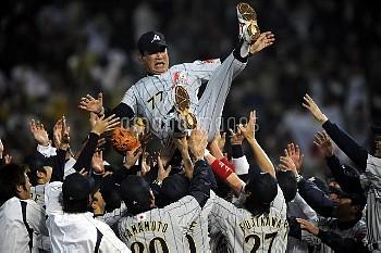 野球 アジア野球選手権2007 日本対台湾 星野仙一 台湾/インターコンチネンタル球場 クレジット:米岡伸剛/フォート・キシモト 2007年12月3日  Baseball Asian Champion