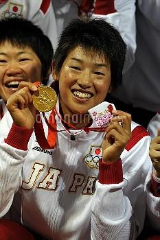 オリンピック 第29回オリンピック競技大会(2008/北京) ソフトボール 表彰式 金メダル 日本代表 豊台ソフトボール場/北京/中国 クレジット:フォート・キシモト 2008年8月21日  Olym