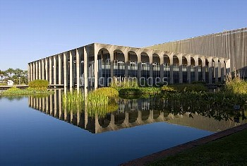 Brasilia, seit 1960 Hauptstadt Brasiliens, entworfen von Lucio Costa und Oscar Niemeyer, viertgroess